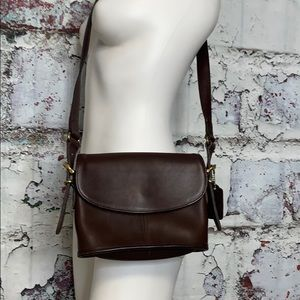 Coach brown leather vintage crossbody purse